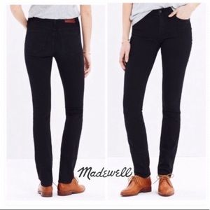 Madewell Alley Staright Black Jeans 25 New NWT